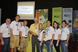Charles Schumacher with Florida FFA officers