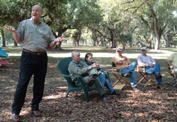 Mutual's Mike Sparks addresses members at Zolfo Springs meeting